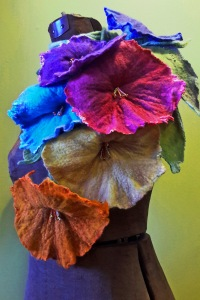 Traditional Wet Felted Flower Lariats