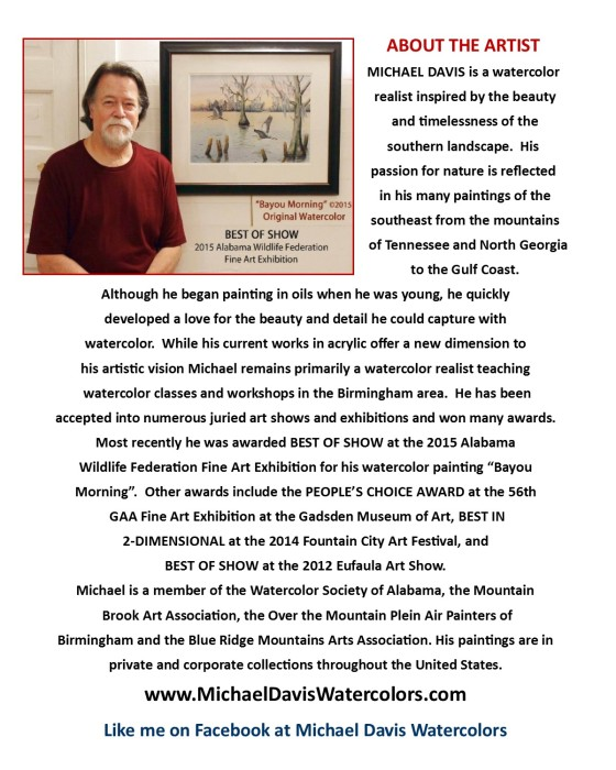 Michael Davis Bio for Riverchase Loves Artists