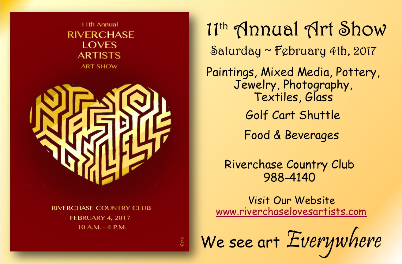 Riverchase Loves Artists Art Show is this Coming Saturday!
