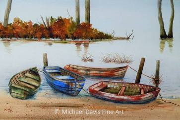 Mike Davis boat watercolor