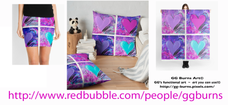 red bubble purple heart banner